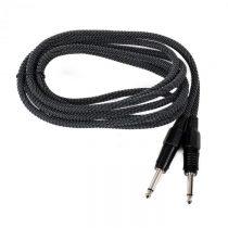 FrontStage 6,35mm-Jack kábel, 3m, mono, Textil čierno-biely