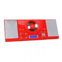 Auna MC-120, stereo zariadenie, MP3/CD prehrávač, červené