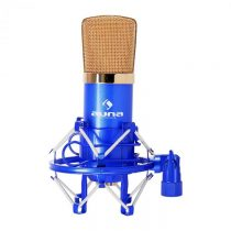 Auna CM001BG štúdiový mikrofón modro-zlatý, kondenzátorový