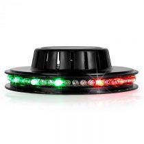 Ibiza LED UFO svetelný efekt, čierny, mikrofón, RGB
