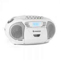 Auna KrissKross, prenos. rádio rekordér, USB, MP3, CD, biely