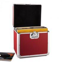 Resident DJ Zeitkapsel, hliníkový kufor na platne, 70 kusov, LP, červený
