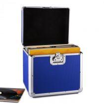 Resident DJ Zeitkapsel, hliníkový kufor na platne, 70 kusov, LP, modrý