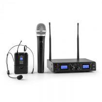 Malone Duett Pro V3, 2-kanálový UHF bezdrôtový mikrofónový set, dosah 50 m