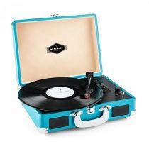Auna Peggy Sue, retro gramofón, LP, USB, modrý
