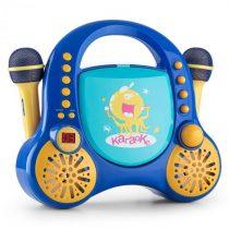 Auna Rockpocket, detský karaoké systém, CD, AUX, 2 x mikrofón, sada nálepiek, modrý