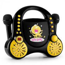 Auna Rockpocket, detský karaoké systém, CD, AUX, 2 x mikrofón, sada nálepiek, čierny