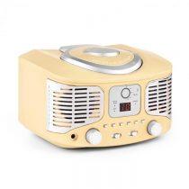 Auna RCD320, retro CD prehrávač, FM, AUX, krémový