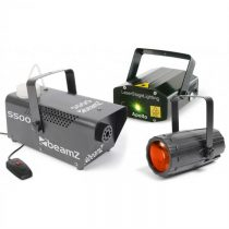 Beamz Light Package 3, set disko svetelných efektov, laser, dymostroj