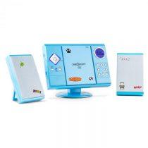 OneConcept V-12, stereosystém s MP3-CD-Prehrávačom USB SD AUX, modrý s nálepkami