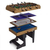 Riley 4 in 1, sklopiteľný hrací stôl pre 11 hier, hokej, futbal, biliard