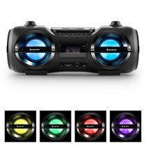 Auna Soundblaster M, max. 50W, boombox s bluetooth 3.0, CD/MP3/USB, FM, LED