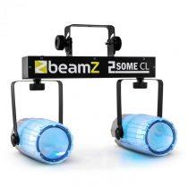 Beamz 2-Some Clear, sada dvoch LED-reflektorov v RGBW s mikrofónom