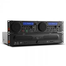 Power Dynamics Power Dynamic PDX115, duálny DJ-CD-Player-Controller s SD, USB, CD, MP3, možnosť mont...