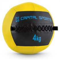 Capital Sports Wallba 4, žltý, 4 kg, wall ball, syntetická koža