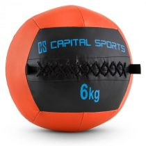 Capital Sports Wallba 6, oranžový, 6 kg, wall ball, syntetická koža