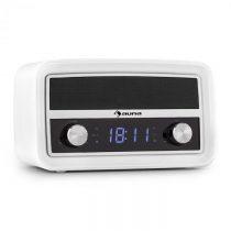 Auna Caprice WH, retro rádio budík, bluetooth, FM, USB, AUX, biely