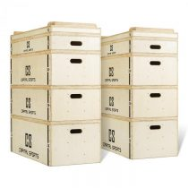 Capital Sports Indefea, sada jerk boxov, drevené boxy, 2 x 5 debien, výška 120 cm