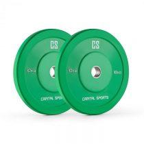 Capital Sports Nipton Bumper Plates, zelené, 10 kg, pár kot&ua...