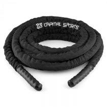 Capital Sports Corope, čierne, 15 m, posilňovacie lano, polyester