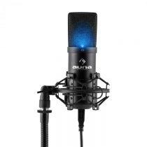 Auna MIC-900B-LED, čierny, štúdiový USB kondenzátorový mikrofón, obličková ch., LED