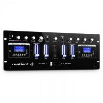 Resident DJ DJ405USB, čierny, 4-kanálový DJ mixážny pult, 2 x bluetooth, USB, SD, AUX, funkcia nahrá...
