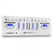 Resident DJ DJ405USB, biely, 4-kanálový DJ mixážny pult, 2 x bluetooth, USB, SD, AUX, funkcia nahráv...