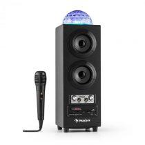 Auna DiscoStar Black, prenosný bluetooth reproduktor, USB, akumulátor, LED, mikrofón