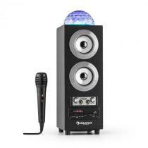 Auna DiscoStar Silver, prenosný 2.1 bluetooth reproduktor, USB, akumulátor, LED, mikrofón