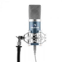 Auna MIC-900BL, modrý, USB, kondenzátorový mikrofón, kardioidný, štúdiový