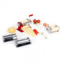 Klarstein Siena Rossa, červený, Pasta Maker, zariadenie na výrobu cestovín, 3 nadstavce