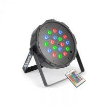 Beamz FlatPAR, 18 x 1 W, PAR reflektor, RGB LED, DMX, IR, vrátane diaľkového ovládania