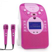 Auna ScreenStar, ružový, karaoke systém, kamera, CD, USB, SD, MP3, vrátane 2 mikrofónov