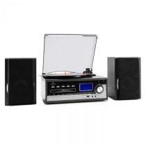 Auna Blackwood, stereo systém, gramofón, USB MP3 kódovanie, CD, kazeta, FM, AUX