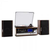 Auna Deerwood, stereo systém, gramofón, USB MP3 kódovanie, CD, kazeta, FM, AUX