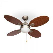"""Klarstein Valderama, stropný ventilátor, 42"""", 60 W, stropná lampa, 2 x 43 W, čerešňové drev..."""