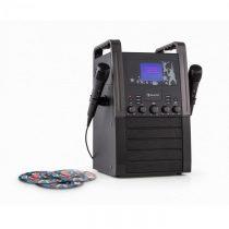 Auna KA8B-V2 BK, čierny, karaoke systém, CD prehrávač, 2 x mikrofón, vrátane 3 x karaoke CD