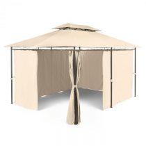 Blumfeldt Grandezza, záhradný pavilón, párty stan, 3 x 4 m, oceľ, polyester, béžový