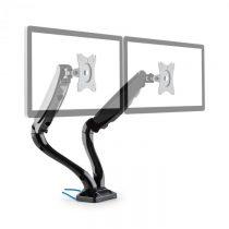 Auna LDT09-C024USB, dvojitý stolný držiak na monitor, LED, LCD, 2 x USB, vrátane montážnej sady