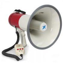 Vexus MEG050, megafón, 50 W, funkcia nahrávania, siréna, mikrofón, prevádzka na batérie, popruh