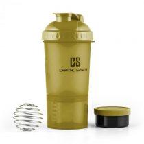 Capital Sports Shakster, šejker na proteínový nápoj, 600 ml, miešacia gulička, dóza na tabletky, zel...