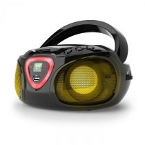 Auna Roadie, boombox, čierny, CD, USB, MP3, FM/AM rádio, bluetooth 2.1, LED farebné efekty