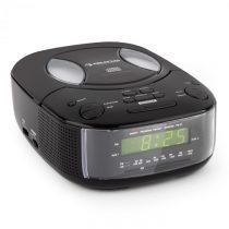 Auna Dreamee BK, čierny, rádiobudík s CD prehrávačom, FM/AM, AUX, duálny budík