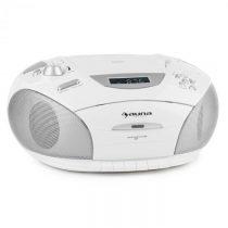 Auna RCD 220, biely, boombox, CD, USB, kazetový magnetofón, PLL FM rádio, MP3, 2 x 2 W