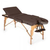 Klarfit MT 500, hnedý, masážny stôl, 210 cm, 200 kg, sklápací, jemný povrch, taška