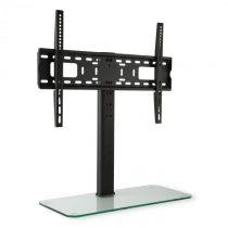 Auna TV stojan, veľkosť L, výška 76 cm, výškovo nastaviteľný, 23-55 palcov, sklenený stojan