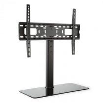 Auna TV stojan, čierny, veľkosť L, výška 76 cm, výškovo nastaviteľný, 23-55 palcov, sklenený stojan