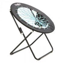 Klarfit Bounco, čierna/modrá, bungee stolička, 81 x 41/85 cm