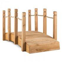 Blumfeldt Rialto, záhradný mostík, okrasný, 58 x 58 x 122 cm (ŠxVxH), lano, masívne drevo