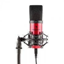 Auna MIC-900-RD, červený, USB, kondenzátorový mikrofón, kardioidný, štúdiový
